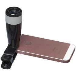 Zoom-in 8x telescopic smartphone camera lens, ABS Plastic, solid black