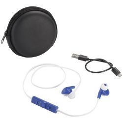 Sonic Bluetooth® earbuds with carrying case, ABS Plastic, Royal blue