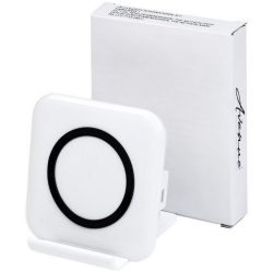 Catena wireless charging phone stand, ABS Plastic, White
