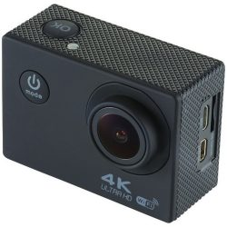 Portrait 4k wifi action camera, ABS plastic, solid black