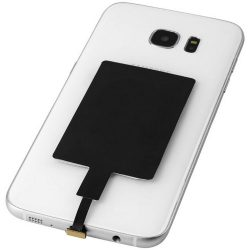 Wireless Charging Receiver with Micro Tip, Paper, solid black