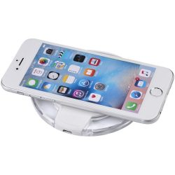 Meteor Qi wireless charging pad, ABS plastic, White