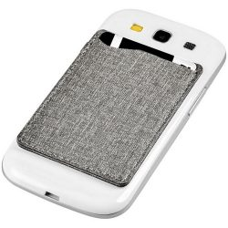 Premium RFID phone wallet, Fabric, Grey
