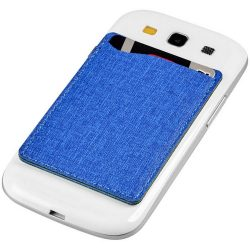 Premium RFID phone wallet, Fabric, Royal blue