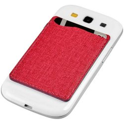 Premium RFID phone wallet, Fabric, Red