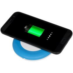 Nebula wireless charging pad with 2-in-1 cable, ABS plastic, Light blue
