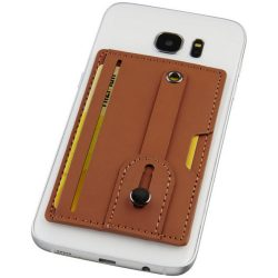 Prime RFID phone wallet with strap, PU leather, Brown