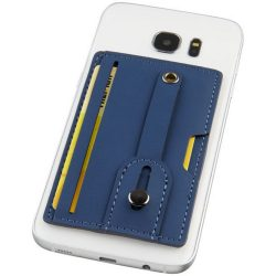 Prime RFID phone wallet with strap, PU leather, Navy