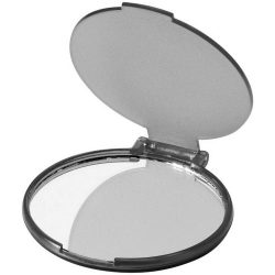 Carmen portable glamour mirror, PS plastic, Transparent black