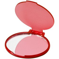 Carmen portable glamour mirror, PS plastic, Red and clear