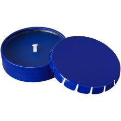 Bova scented canlde in tin, Tin, Blue