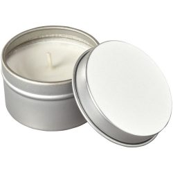 Luva scented candle in tin, Tin, Silver