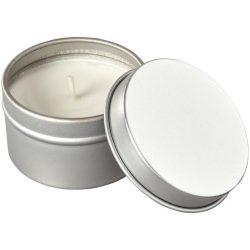 Lumanare cu parfum de vanilie, Everestus, LPD18, metal, gri, laveta inclusa