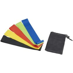 Benzi fitness elastice de rezistenta, Everestus, CE01, nylon si latex, negru
