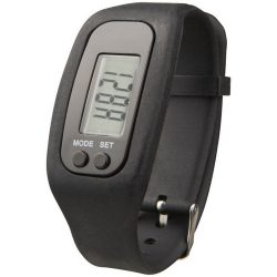 Get-fit pedometer step counter smartwatch, Silicone, solid black