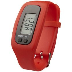 Get-fit pedometer step counter smartwatch, Silicone, Red