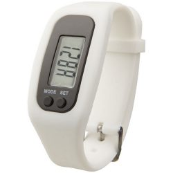 Get-fit pedometer step counter smartwatch, Silicone, White
