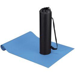 Covoras fitness si yoga cu husa, Everestus, CA01, poliester si spuma, albastru, saculet sport inclus