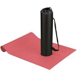 Covoras fitness si yoga cu husa, Everestus, CA05, poliester si spuma, rosu, saculet sport inclus