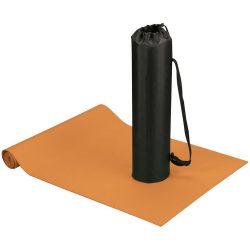Covoras fitness si yoga cu husa, Everestus, CA, poliester si spuma, portocaliu