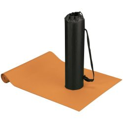 Covoras fitness si yoga cu husa, Everestus, CA03, poliester si spuma, portocaliu, saculet sport inclus