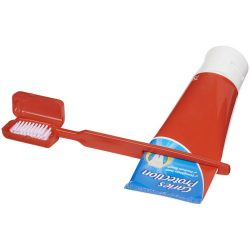 Toothbrush w/ squeezer - RD, Red