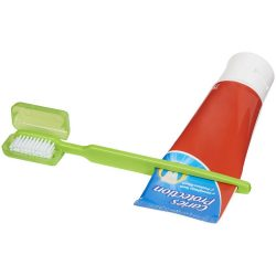 Toothbrush w/ squeezer - LM, Lime