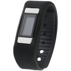 Get-Fitter pedometer activity watch, PP Plastic and silicone, solid black