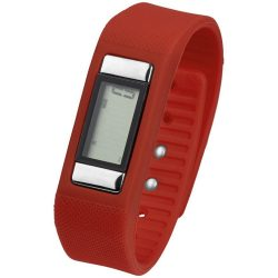 Get-Fitter pedometer activity watch, PP Plastic and silicone, Red