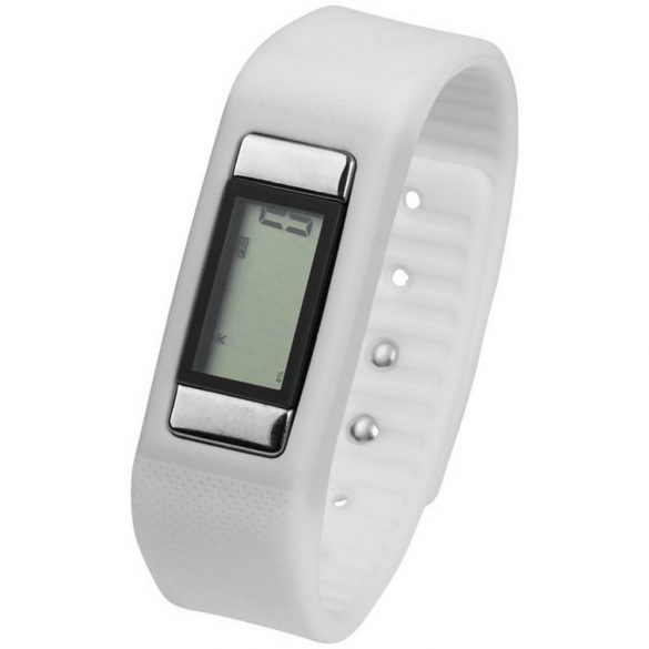 Get-Fitter pedometer activity watch, PP Plastic and silicone, White