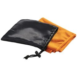 Peter cooling towel in mesh pouch, Polyester, Orange