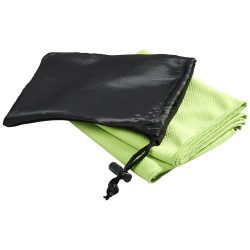 Peter cooling towel in mesh pouch, Polyester, Lime