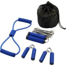 Set 4 accesorii fitness, Everestus, 9IA19039, Poliester, Albastru