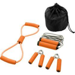 Set 4 accesorii fitness, Everestus, 9IA19037, Poliester, Portocaliu