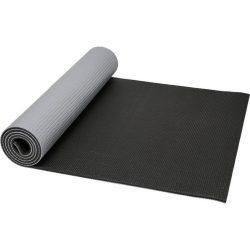Saltea de Yoga cu suprafata texturata, Everestus, 9IA19034, PVC, Gri, Negru