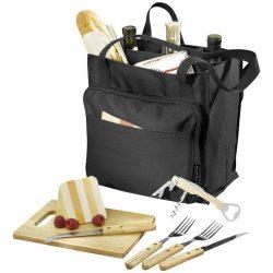 Geanta pentru picnic, Everestus, MO, 600D poliester, negru, saculet de calatorie si pastila racire incluse