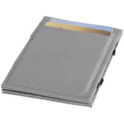 Portofel cu protectie RFID, flip-over, Everestus, PPE04, poliester 300D, gri, 70x6x105 mm, lupa de citit inclusa