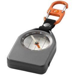Busola multifunctionala cu fluier si termometru, Everestus, BSA06, plastic, gri, negru, portocaliu, saculet de calatorie inclus