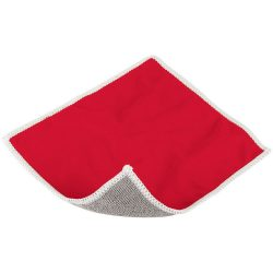 Wiped screen cleaning cloth, Polyester, Red