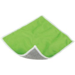 Wiped screen cleaning cloth, Polyester, Lime