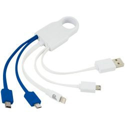 Squad 5-in-1 charging cable set, ABS Plastic, White, Blue