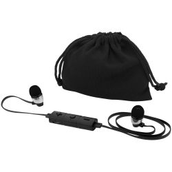 Bustle Bluetooth® earbuds, ABS Plastic, solid black