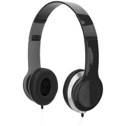 Cheaz foldable headphones, ABS Plastic, solid black