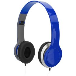 Cheaz foldable headphones, ABS Plastic, Blue