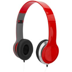 Cheaz foldable headphones, ABS Plastic, Red