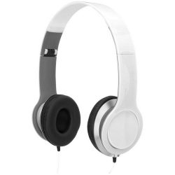 Cheaz foldable headphones, ABS Plastic, White