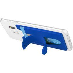 Suport telefon cu portcard inclus, Everestus, STT104, silicon, albastru