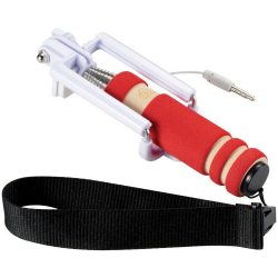 Snaps mini selfie stick with wrist strap, EVA / Metal, Red