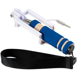 Snaps mini selfie stick with wrist strap, EVA / Metal, Royal blue