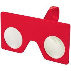 Vish mini virtual reality glasses with clip, ABS Plastic, Red